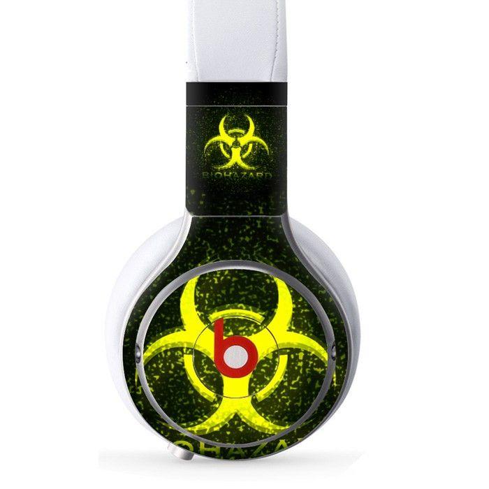 Biohazard decal for Monster Beats Pro wireless headphones