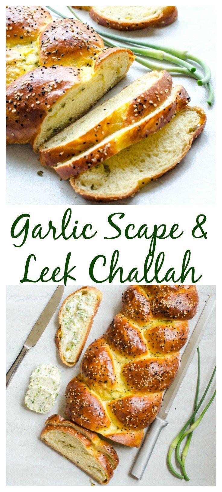 Garlic Scape and Leek Challah