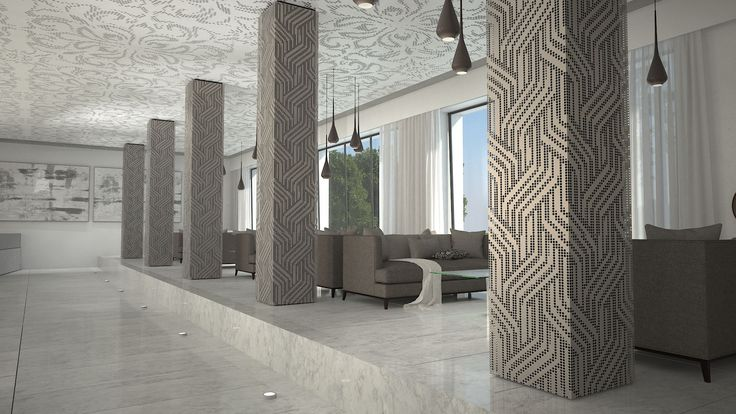 COLUMNS COVERING - ΕΠΕΝΔΥΣΗ ΚΟΛΟΝΩΝ Wall covering made of perforated aluminium with a unique pattern. Life is in the details. Metalaxi Innovative Architectural Products. www.metalaxi.com