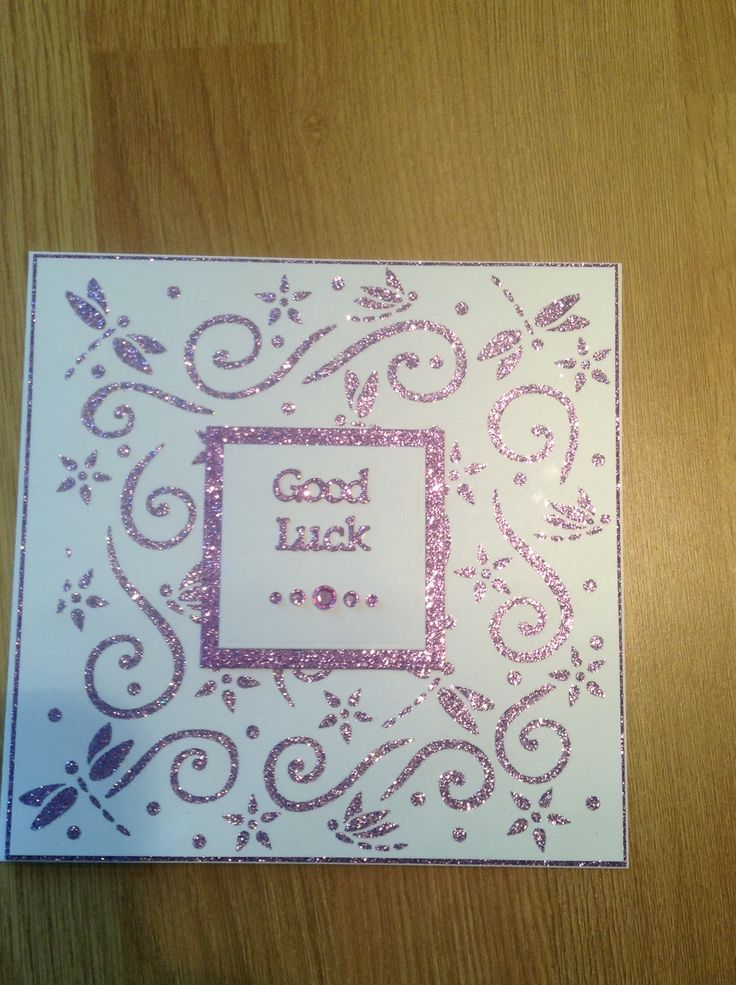 Good luck card made using imagination crafts sparkle medium