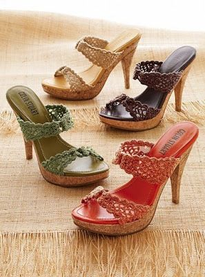 ? Ideas en Crochet: Sandalias y zapatillas tejidas