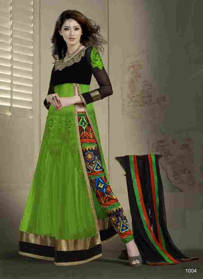 VandV Stylish Outstanding Designer Green Colour Anarkali Suits-SEM565-1004 - Online Shopping Marketplace Shopdrill.com
