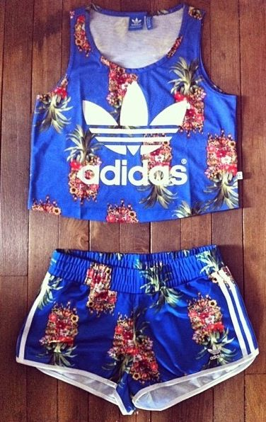 Adidas sportswear. Re-pinning: Girls... Pineapple Adidas! Possible soccer uniforms! Check it...♡ this get up