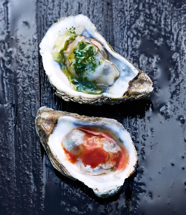 Grilled Oysters with Herb Butter