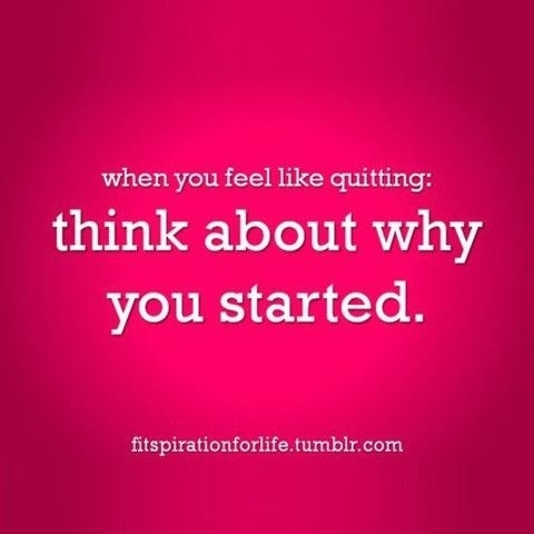 Quitting is NOT an option.  Stick this on your fridge, your mirror, in your workout planner, motivation board! my-motivation-board healthy-diet