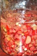 Recette de liqueur de rhubarbe