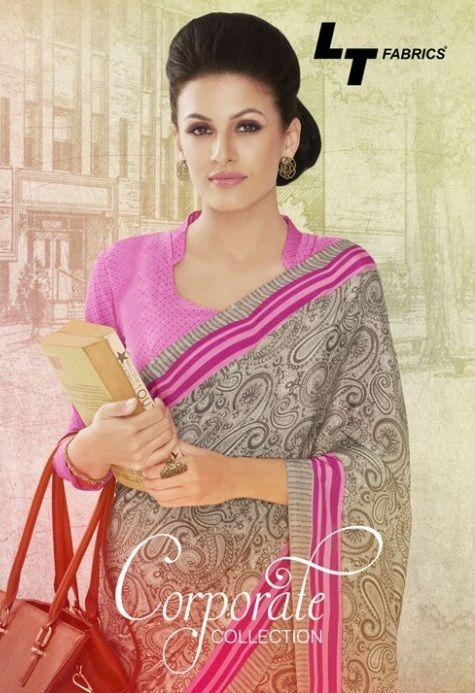 LT Corporate Collection Online at #TextileDeal Shop Now Wholesale Crepe Ethnic Sarees Collection Online