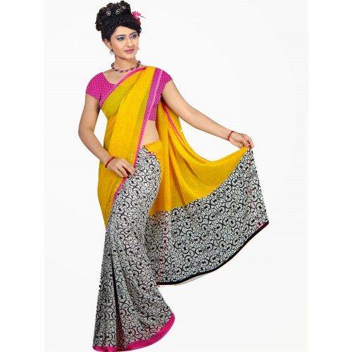 Bollywod designer saree in georgette fabric - Online Shopping for Designer Sarees by saiArisha