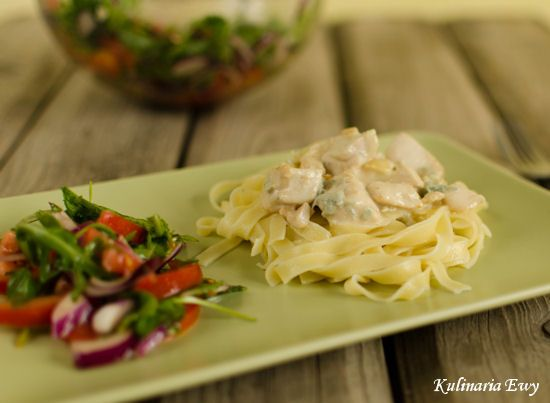 Tagliatelle with Chicken and Gorgonzola sauce