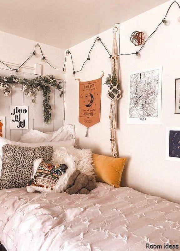15 Trendy Bedroom Design Tendencies And Fashionable Room Decorating Ideas Summer Room Decor Inspi In 2020 Dorm Room Wall Decor Brick Wall Living Room Dorm Room Walls
