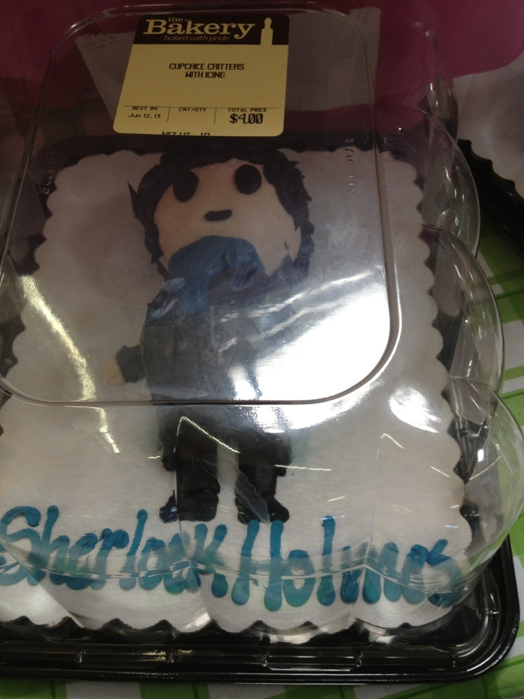 Sherlock Cake! @Delia Mick ...mother! for my birthday please! :) and perhaps Benedict Cumberbatch to go along with it <3