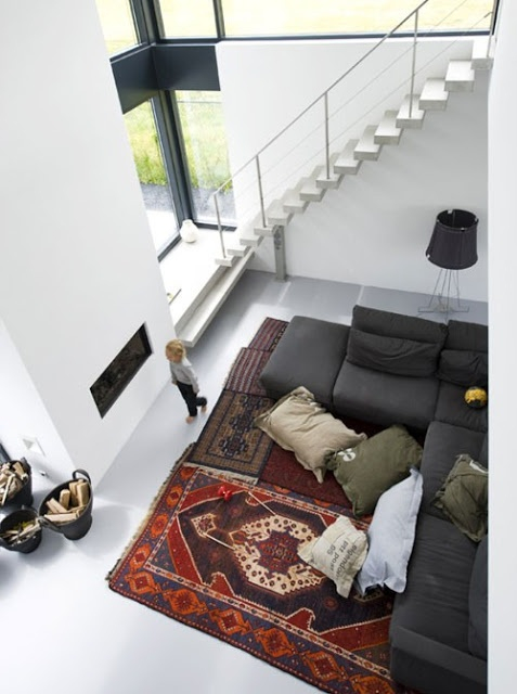 Inspiration: multiple small rugs