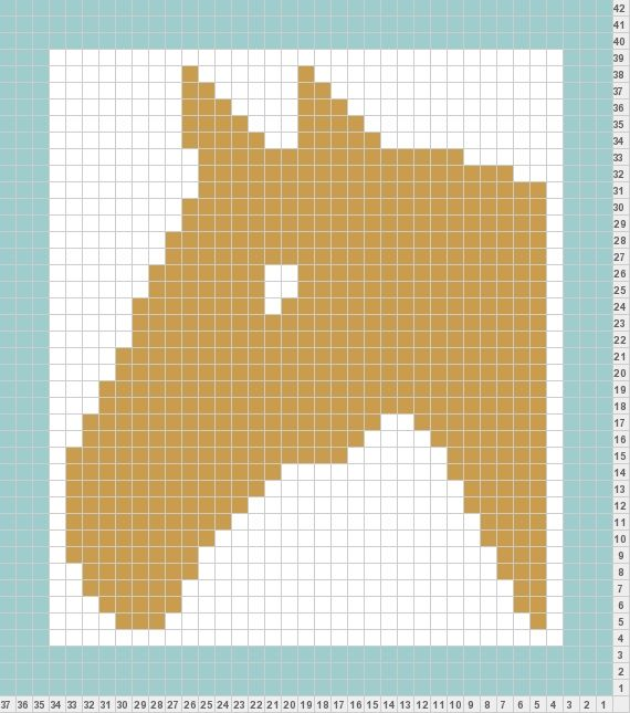 Design Knitting Pattern Graph : horse knit pattern Should be easy enough to convert to loom Knifty Knitter ...