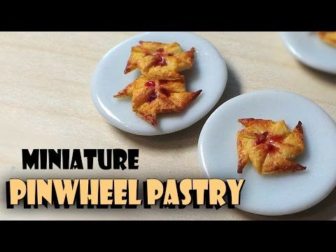 ▶ Miniature Pinwheel Pastry - Polymer Clay Tutorial - YouTube