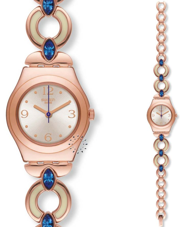 SWATCH Esclarmonde Rose Gold Stainless Steel Bracelet Τιμή: 100€ http://www.oroloi.gr/product_info.php?products_id=35292