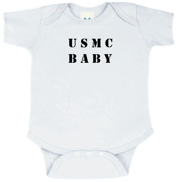 USMC BABY onesie by Knackmaker on Etsy, $11.99