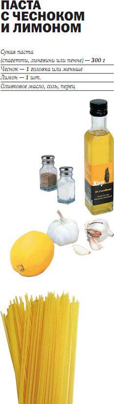 Паста  с чесноком и лимоном