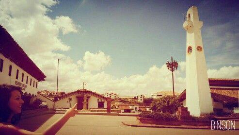 La torre del reloj en Guatavita