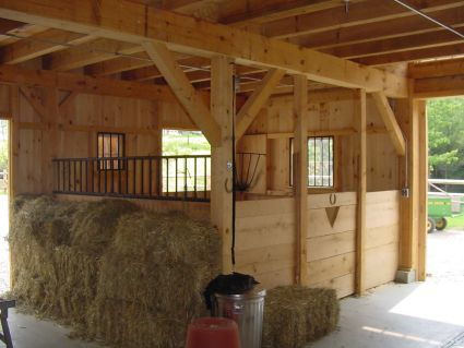 "*sigh* This is where I want to be!  It just screams ""Hey, come on in! Pull up a hay bale and grab a bar of saddle soap and we'll hang out and talk about horses, and laugh, and clean tack :).""  (See Barn Plan 2)"