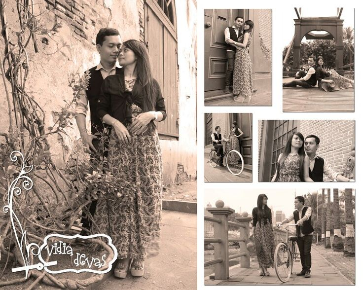 Prewedding of my friend at old town, Jakarta Simple consept, low cost but they like it :-D