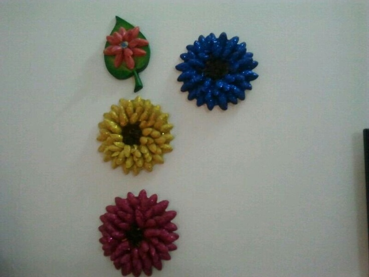 Pista Shell Flowers A Decorative Piece On Your Wall