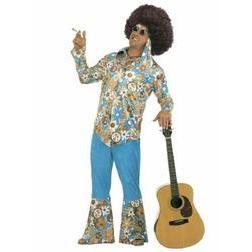 Disfraz de hippie talla grande para hombre