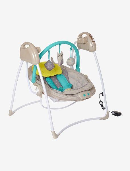 Balancelle avec arche de jeux Babyswing VERTBAUDET - Beige - 1