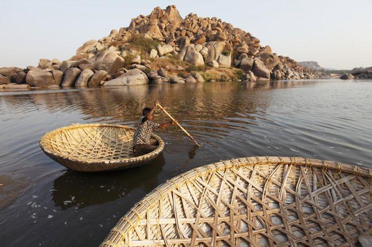 Hampi, India. Boats