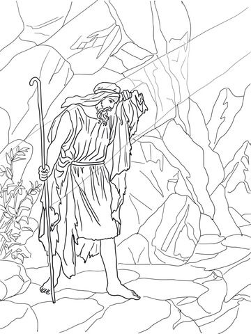 God Speaks To Elijah Coloring Page From Prophet Elijah