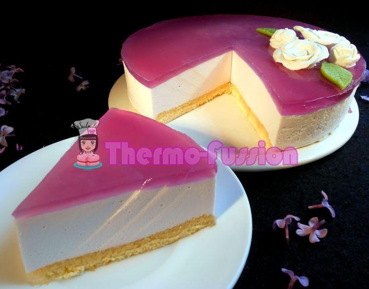 Tarta mousse de caramelos violetas Thermomix