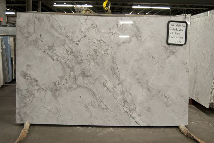 Super White Granite achieves the carrara marble look but is a stronger stone…