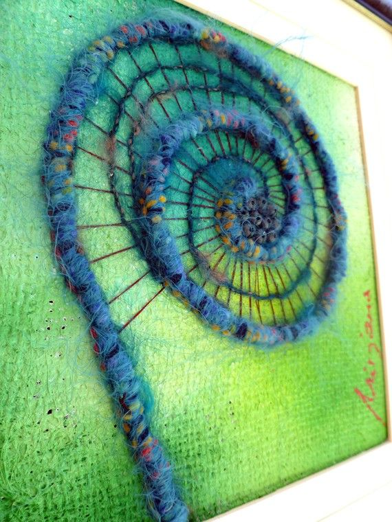 Unfurling VII original mixed media artwork by Cesart64