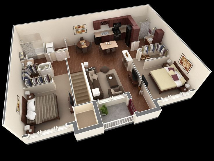 Image Result For Floor Plan 2 Bedroom Apartment Over Garage Building Plans House Bedroom House Plans 2 Bedroom House Plans