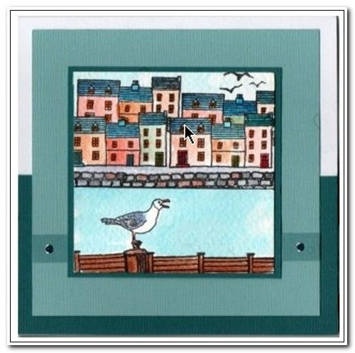 Card made with stamps from Coastal Scene It stamp set