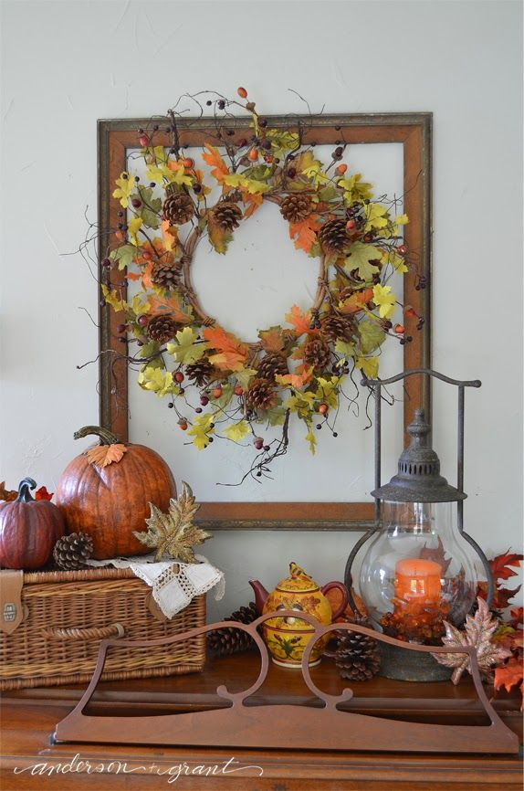 My Dining Room Decorated for Fall