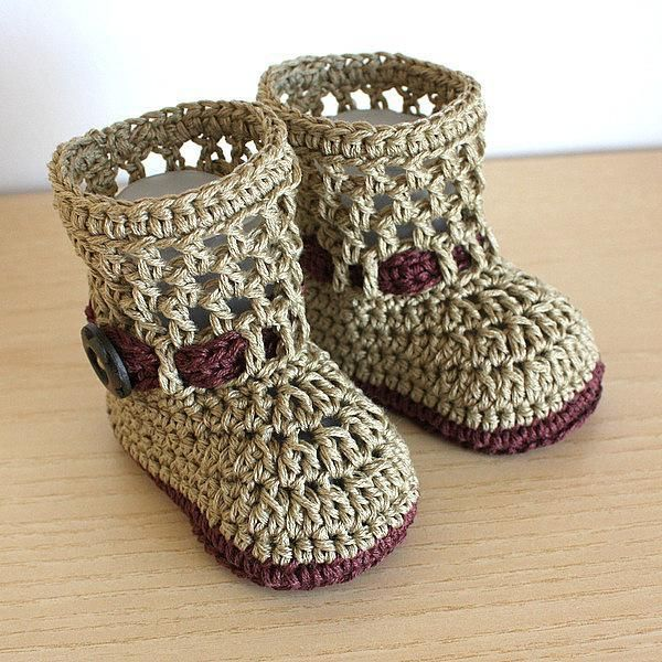 (4) Name: 'Crocheting : Baby Boots Fashion Spring