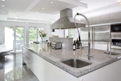 White And Grey Kitchen Ideas kitchen - stunning white and grey with marble benchtops. | classic