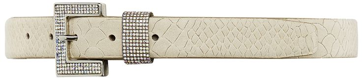 10794 narrow belt, 2,5 cm, creme.