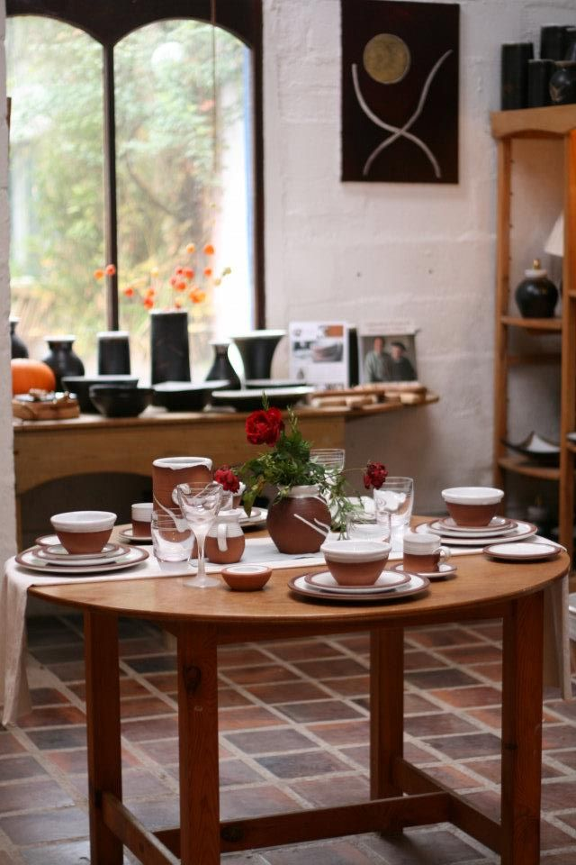 Showroom with Stephen Pearce Pottery.