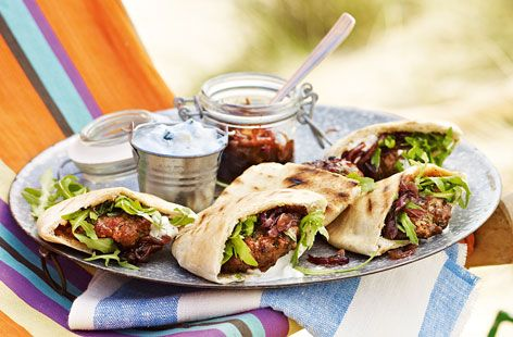 Mini Moroccan lamb pittas with sticky onions