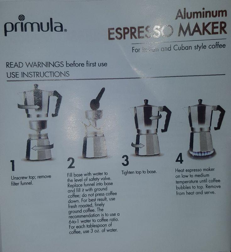 Espresso machine instructions instruction