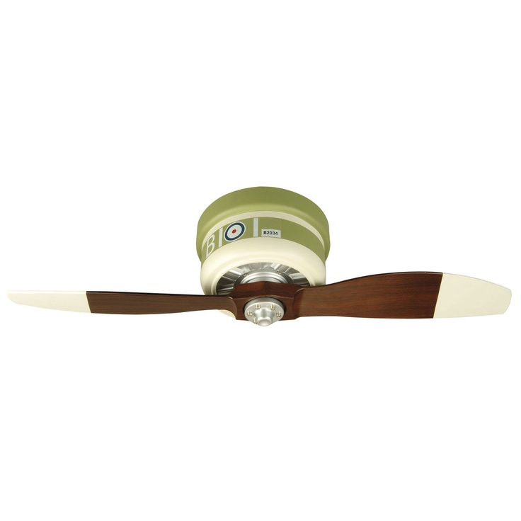 vintage airplane ceiling fan...love
