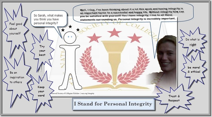 I Stand for #Integrity by Sara Hogan from Strayer University: Photo