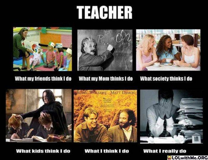 A Day in the Life of Every Teacher - the last one is so me...