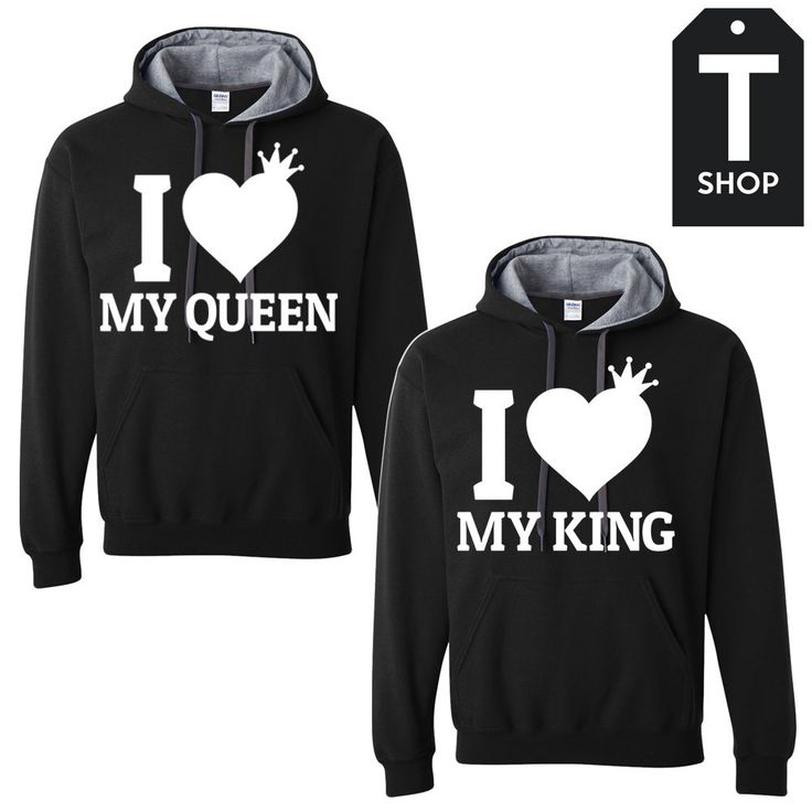 I love my King and Queen Couple Hoodies