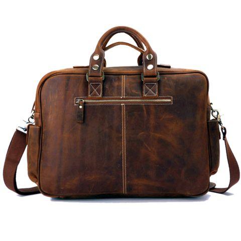 La Parva Men's Leather Messenger Bag