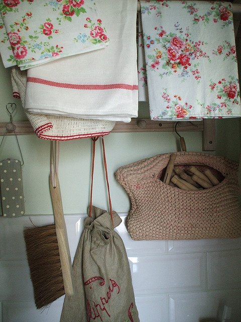 utility room cleaning can be pretty too....Cath Kidston cloths & dusters,too pretty for dirt?