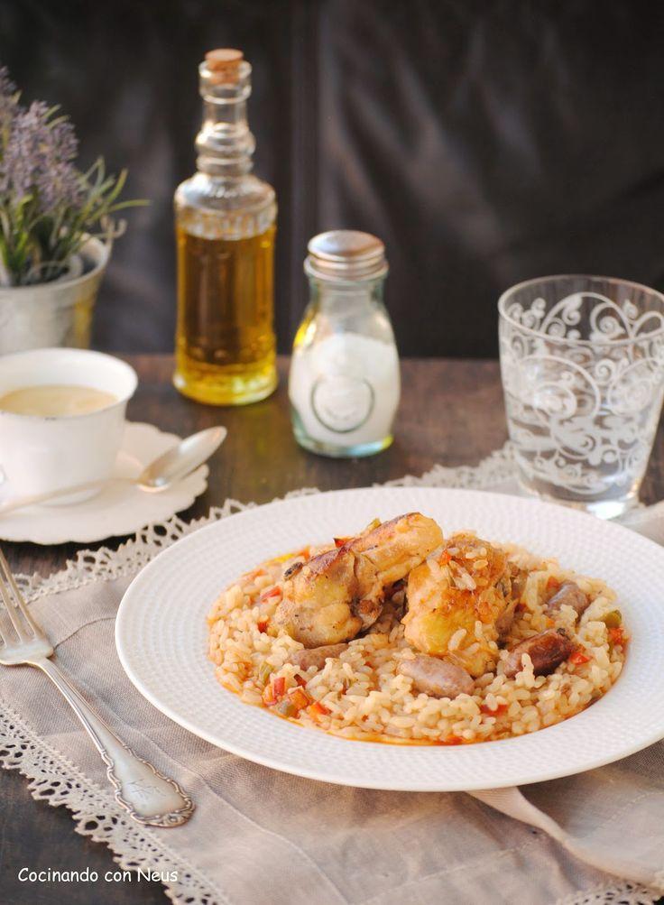 Arroz al horno con verduras y pollo cocinando con neus - Arroz con verduras light ...
