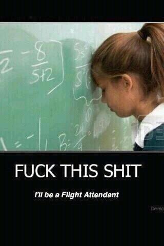 Flight attendant, funny