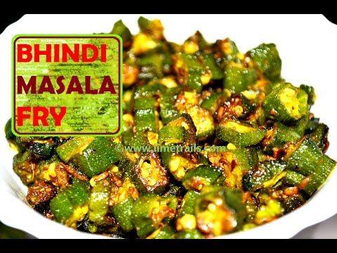 Bhindi / Okra Masala Fry Recipe | Bhindi Ki Sabzi | Spicy Okra | Lady's ...